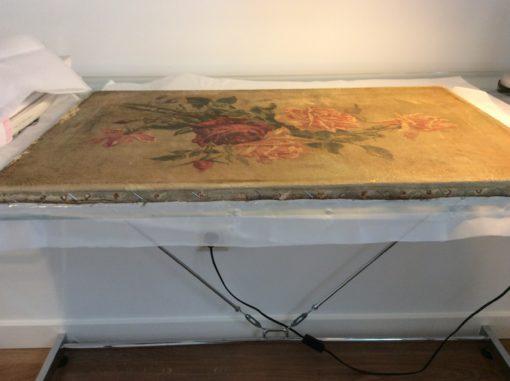 tensado de bastidor restauracion de lienzo